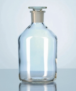 Narrow-mouth reagent bottles with stopper, soda-lime glass Heco-Catalogue