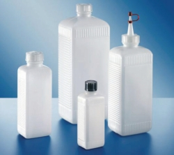 Square bottles, PE-HD and PVC, series 310 Heco-Catalogue