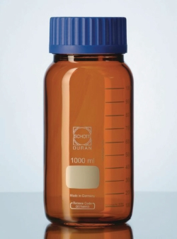 Wide-mouth bottles GLS 80®, DURAN® amber glass Heco-Catalogue