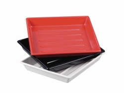 Photographic trays LaboPlast®, PVC, shallow form with ribs on bottom, profile shape rounded