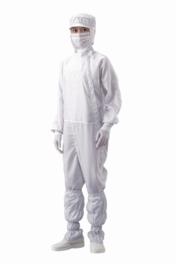 Overall for clean room ASPURE, lateral zip,  polyester