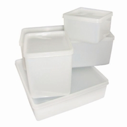 Storage boxes, PE-HD with tightly closing PE-LD lid Heco-Catalogue