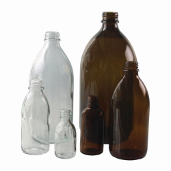 Narrow-mouth bottles, soda-lime glass Heco-Catalogue