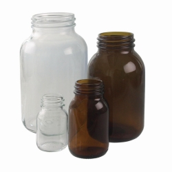 Wide-mouth bottles, soda-lime glass Heco-Catalogue